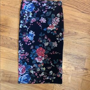 Women's floral skirt